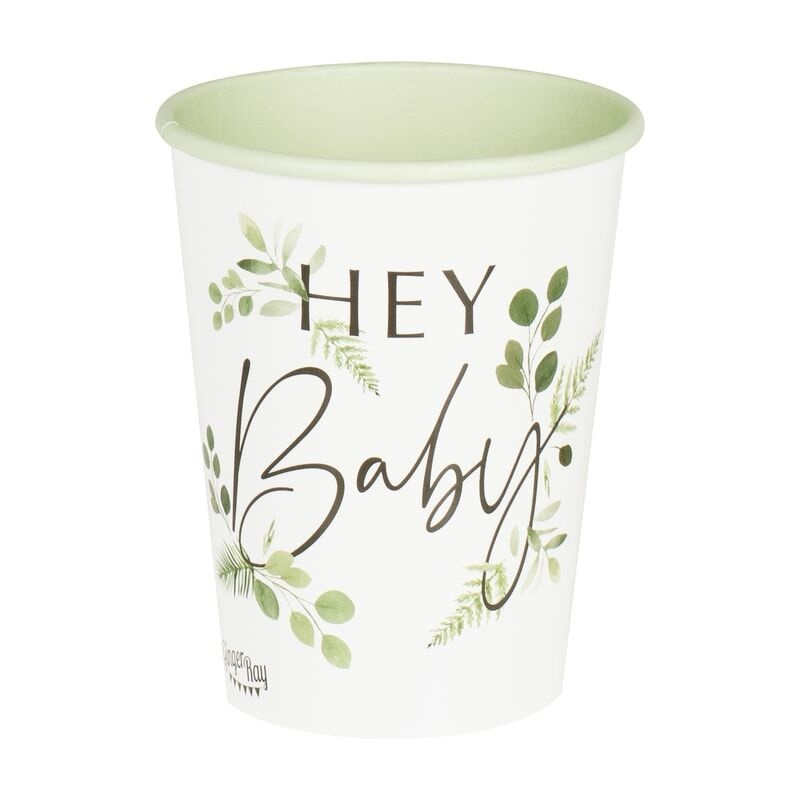GINGERRAY BOTANICAL HEY BABY SHOWER CUPS