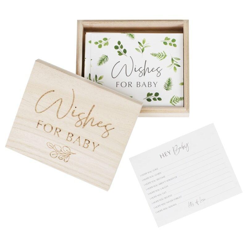 GINGERRAY BOTANICAL BABY SHOWER ADVICE CARDS AND KEEPSAKE BOX