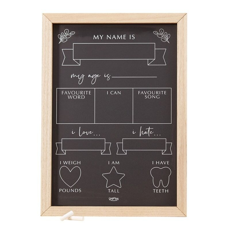 GINGERRAY BABY MILESTONE CHALKBOARD SIGN