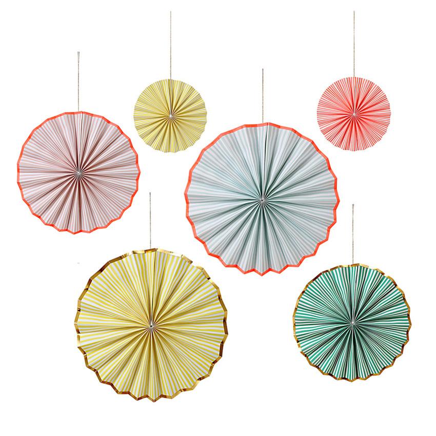 MERIMERI Pastel stripe pinwheels