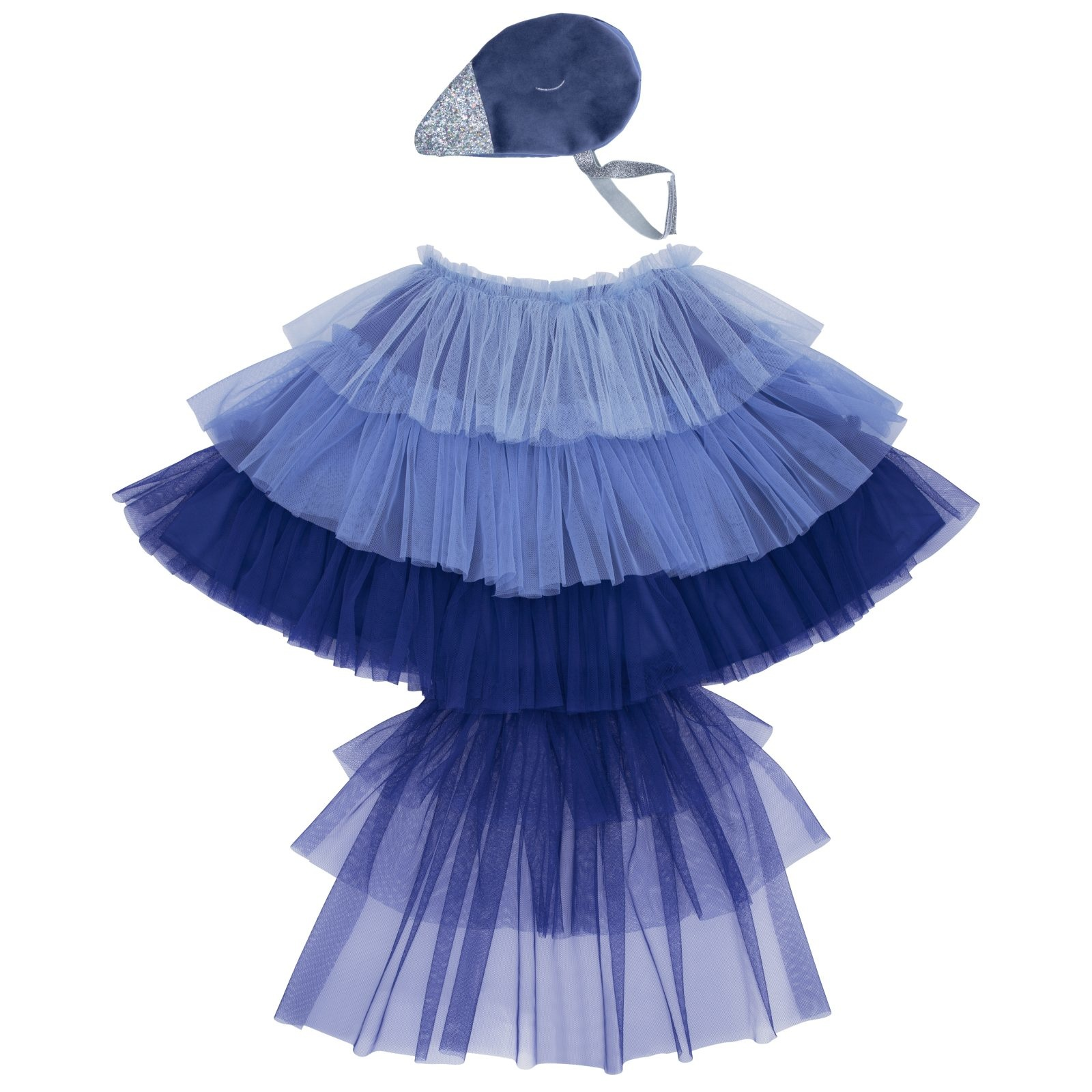 MERIMERI Blue Bird cape dress-up