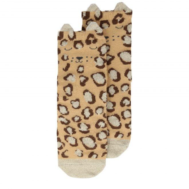 MERIMERI Leopard sparkle socks 6-8 yrs