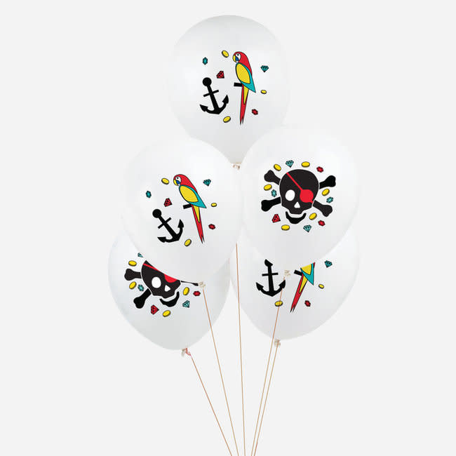 MY LITTLE DAY 5 pirate latex balloons