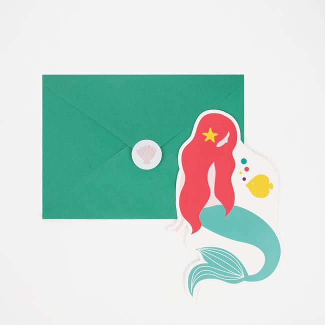MY LITTLE DAY mermaid invitations