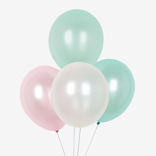 MY LITTLE DAY 10 metallic latex balloons