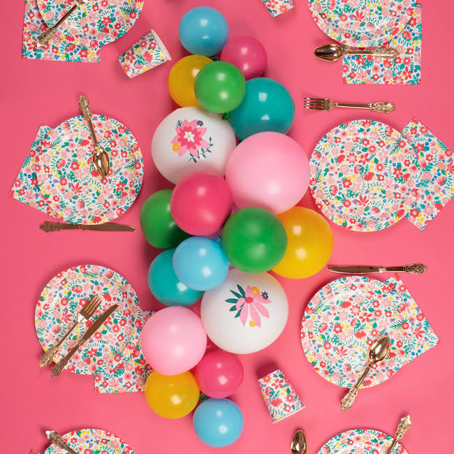MY LITTLE DAY 5 flower latex balloons