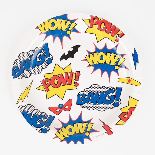 MY LITTLE DAY super hero paper plates