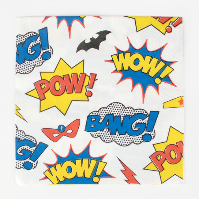 MY LITTLE DAY super hero paper napkins