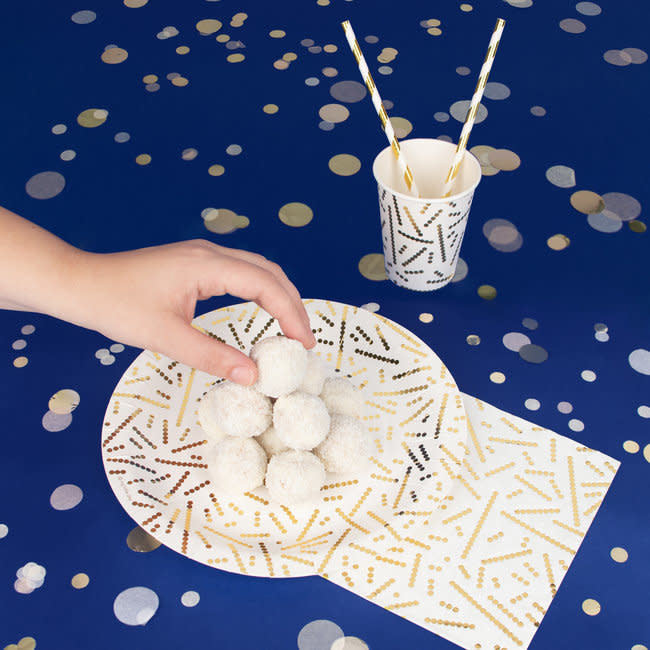 MY LITTLE DAY gold pearls paper napkins