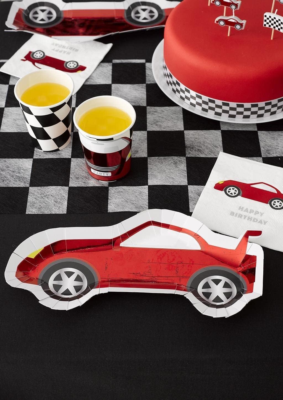 TT Party Racer Car Shaped Plates