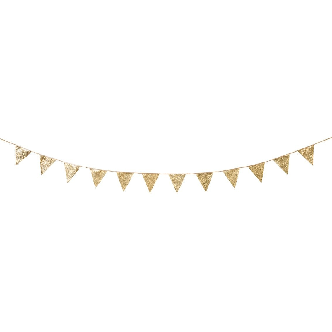 TT Luxe Gold Glitter Bunting