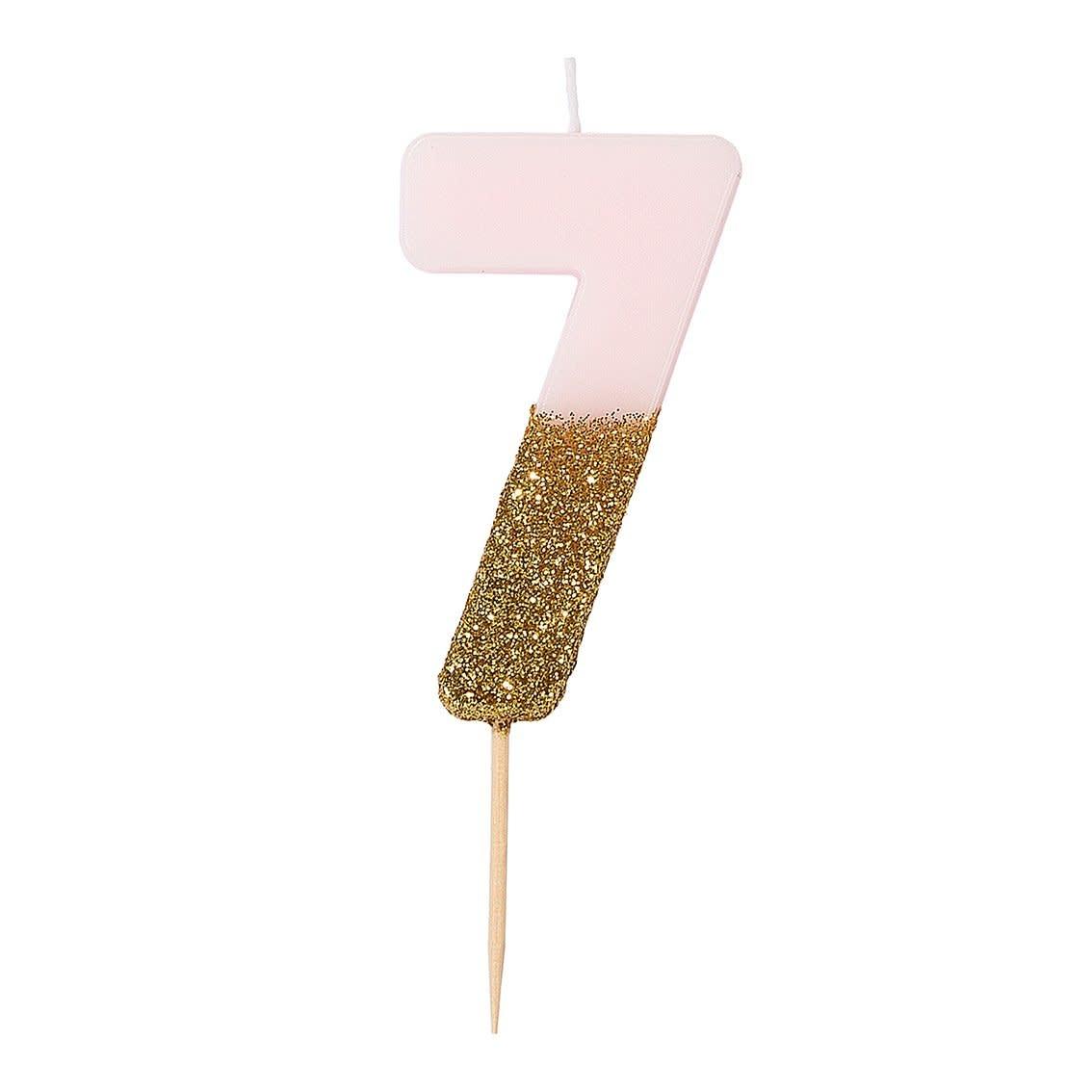 TT Pink Birthday Glitter Candle - 7
