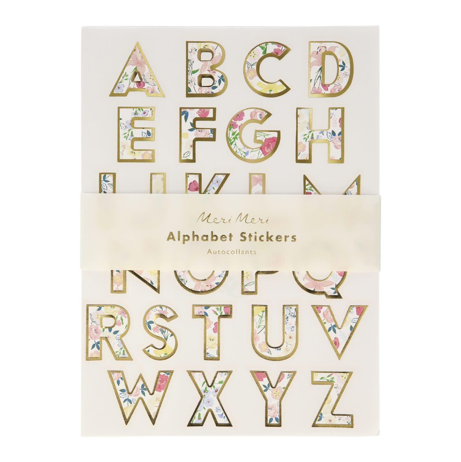 MERIMERI Flower alphabet sticker sheets