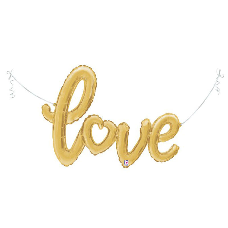 SMP love script heart gold 119 cm