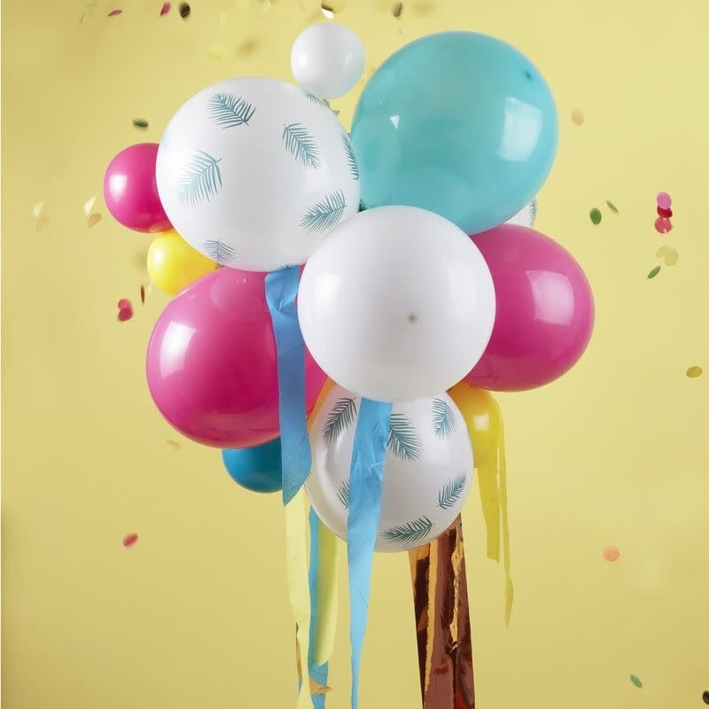 GINGERRAY MULTICOLOURED AND PALM PRINT PARTY BALLOON CHANDELIER
