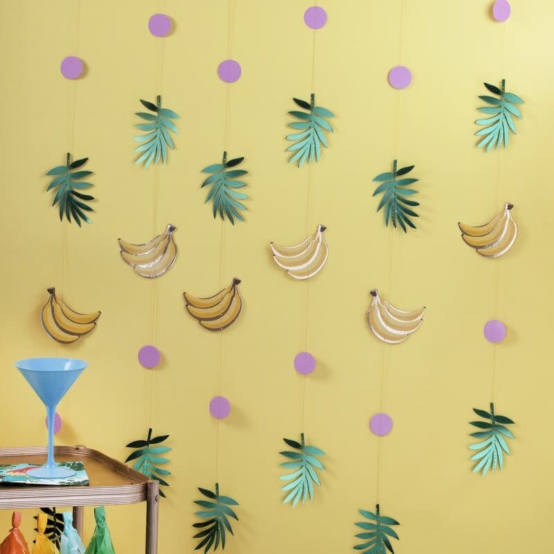 GINGERRAY GOLD FOILED BANANA AND LEAF PARTY BACKDROP