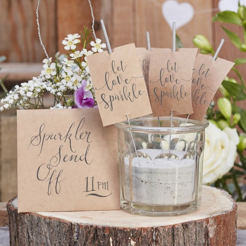 GINGERRAY LET LOVE SPARKLE SPARKLERS - RUSTIC COUNTRY
