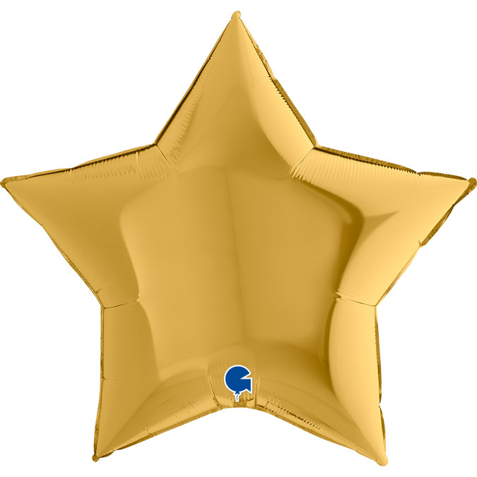 SMP star foil balloon gold 5 90 cm