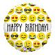 SMP emoji birthday foil balloon 45 cm