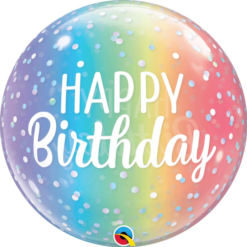 SMP birthday dots bubble balloon 56 cm