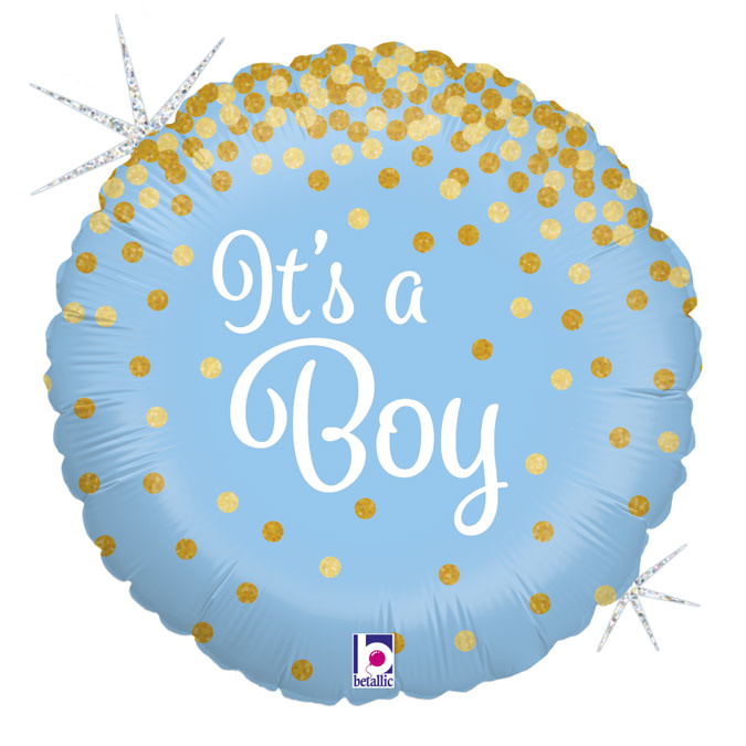 YAY send a foil helium balloon it's a boy glitter