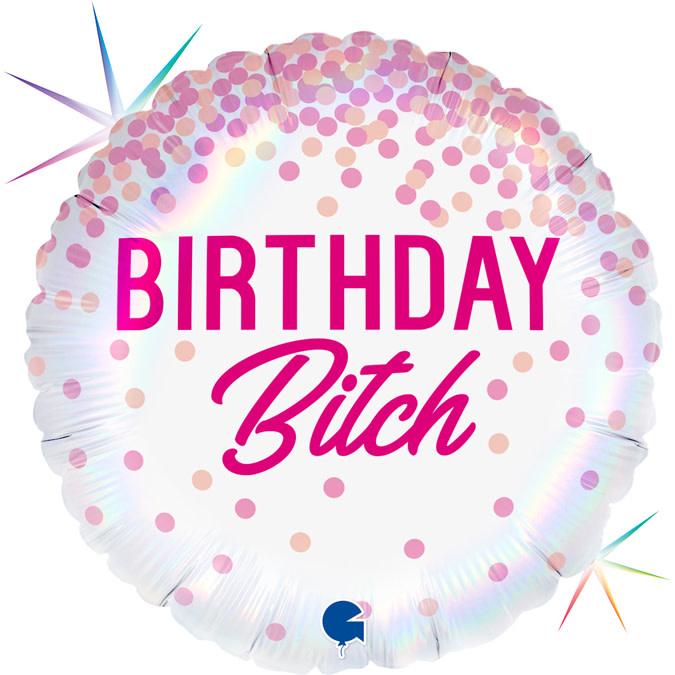 YAY send a foil helium balloon birthday bitch