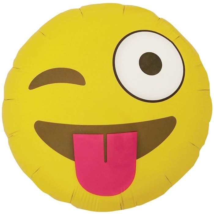 YAY send a foil helium balloon emoji winking