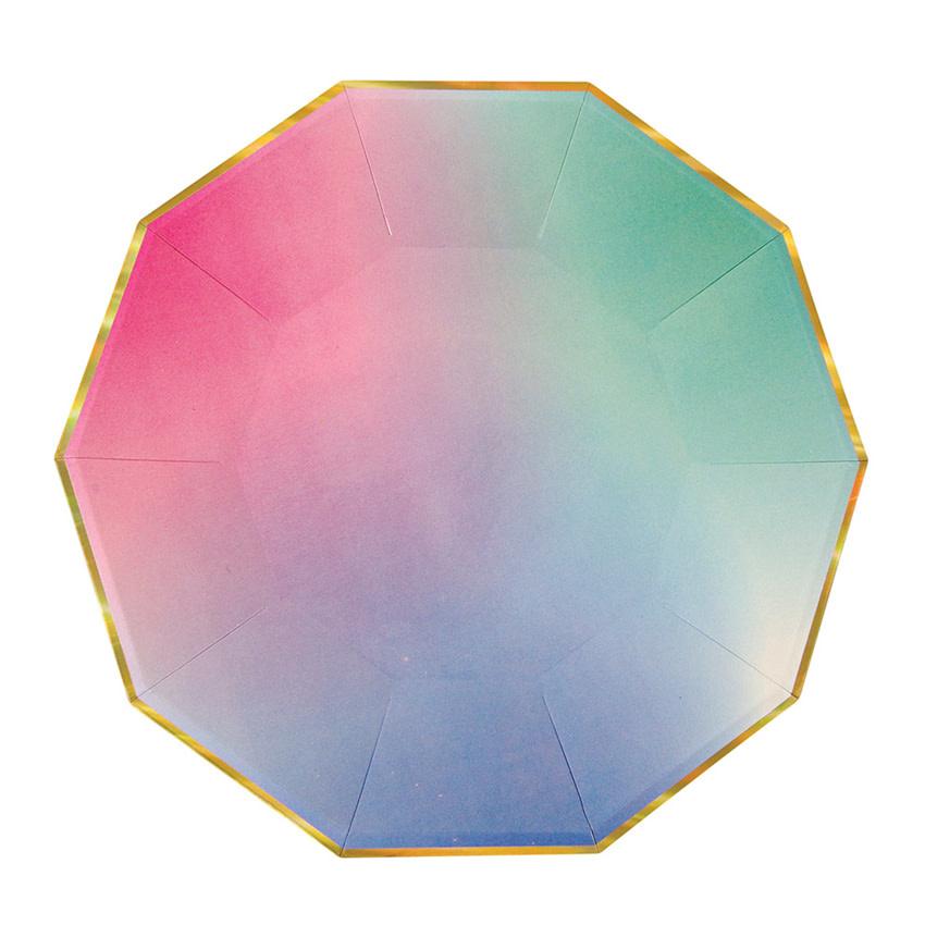 MERIMERI Ombre pastel plates L