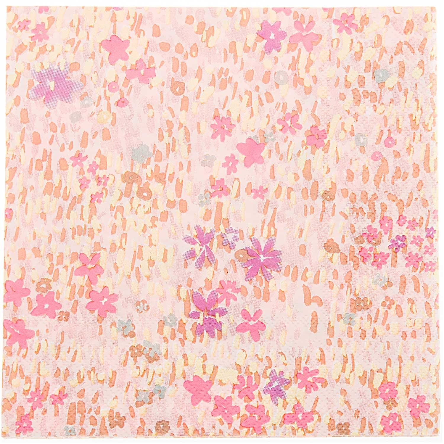 RICO NAPKIN, FLOWER MEADOW,PINK,FSC MIX