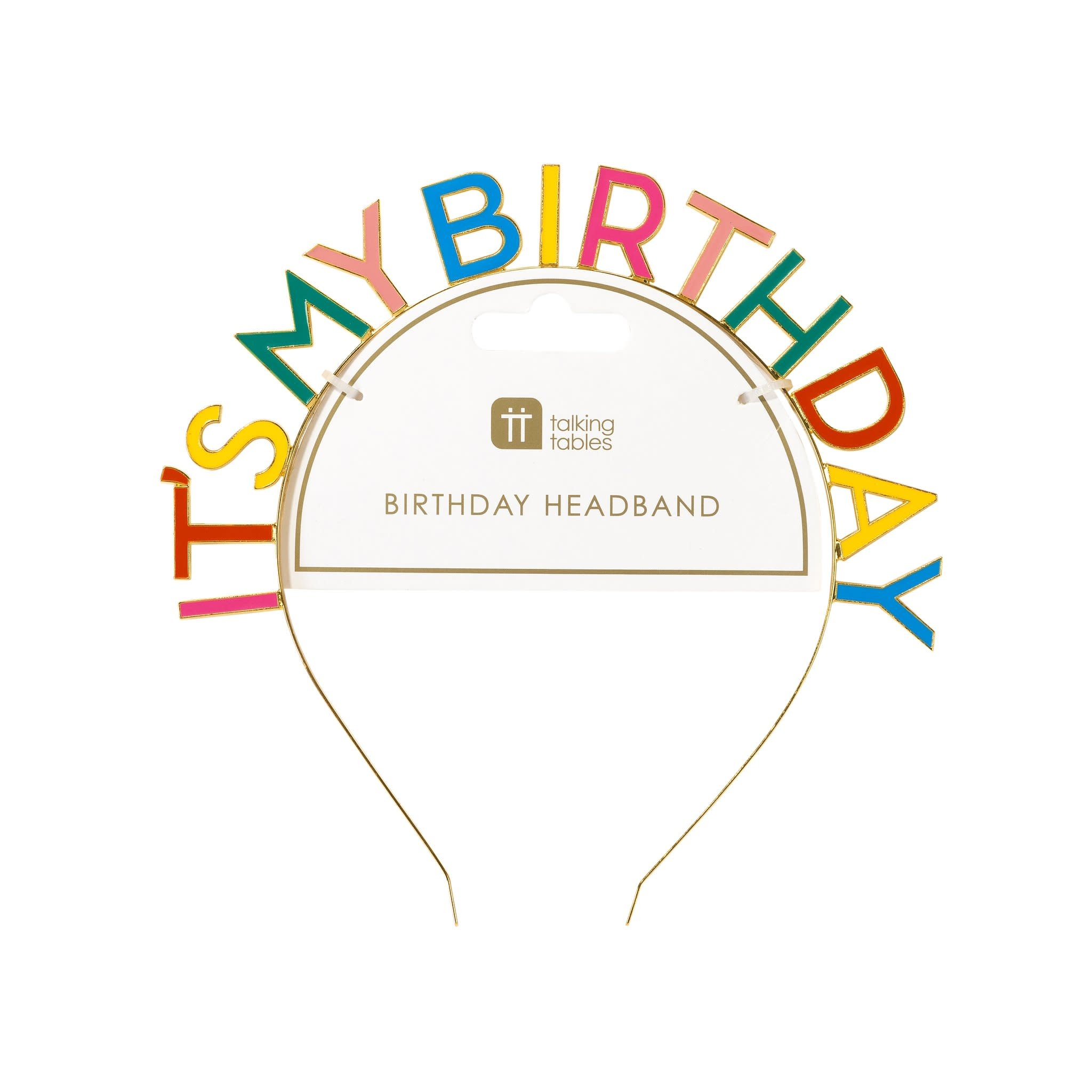 TT Birthday Brights Rainbow It's My Birthday Headband