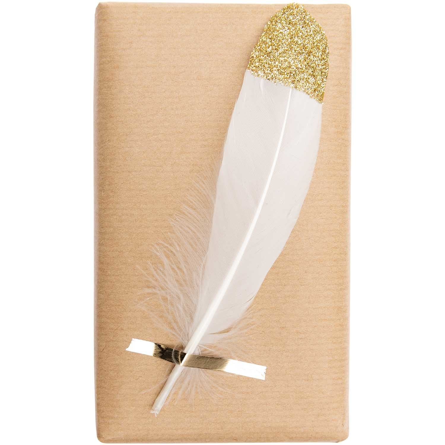RICO FEATHERS, WHITE/GOLD