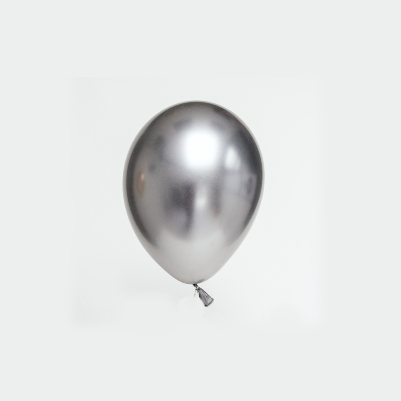 SMP chrome shiny silver 17 cm 6 x