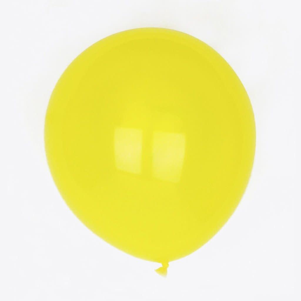YAY yellow latex balloons 30 cm 10 x