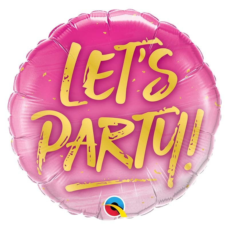SMP let's party pink foil balloon 45 cm