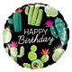 SMP birthday cactus foil balloon 45 cm