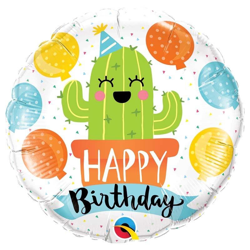 SMP birthday party cactus foil balloon 45 cm