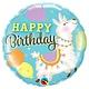 SMP birthday lama foil balloon 45 cm