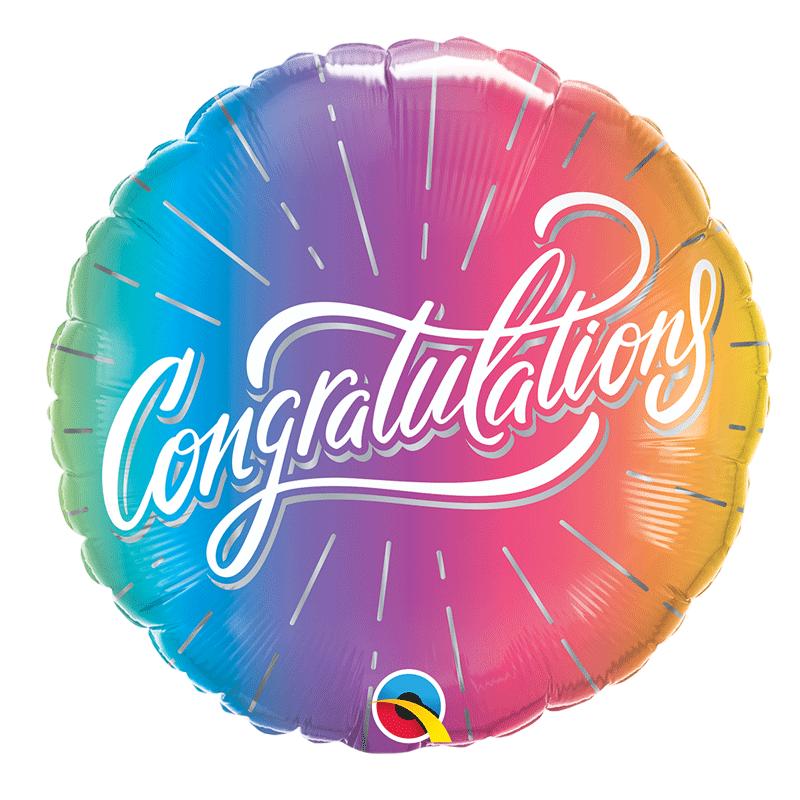 SMP congratulations ombre dots foil balloon 45 cm