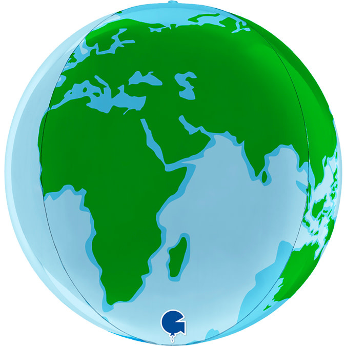 SMP globe earth foil balloon 38 cm