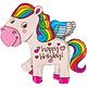 SMP happy birthday poney rainbow 115 cm