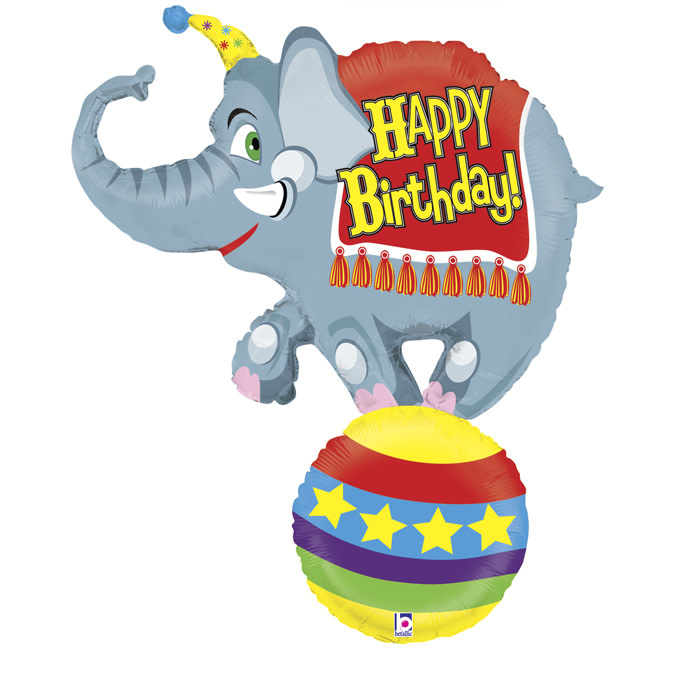SMP circus elephant foil balloon