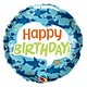 SMP birthday fun shark foil balloon 45 cm