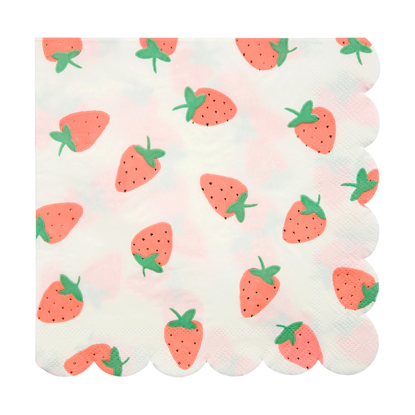 MERIMERI Strawberry napkins L