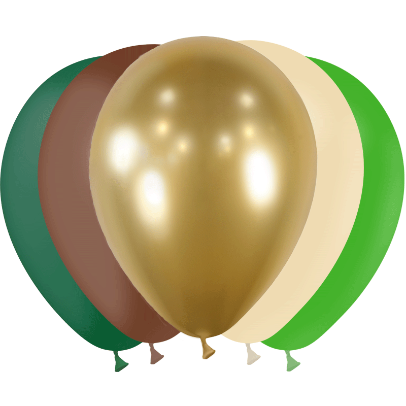 SMP 25 x mini latex balloons nature gold 12,5 cm 100% biodegradable