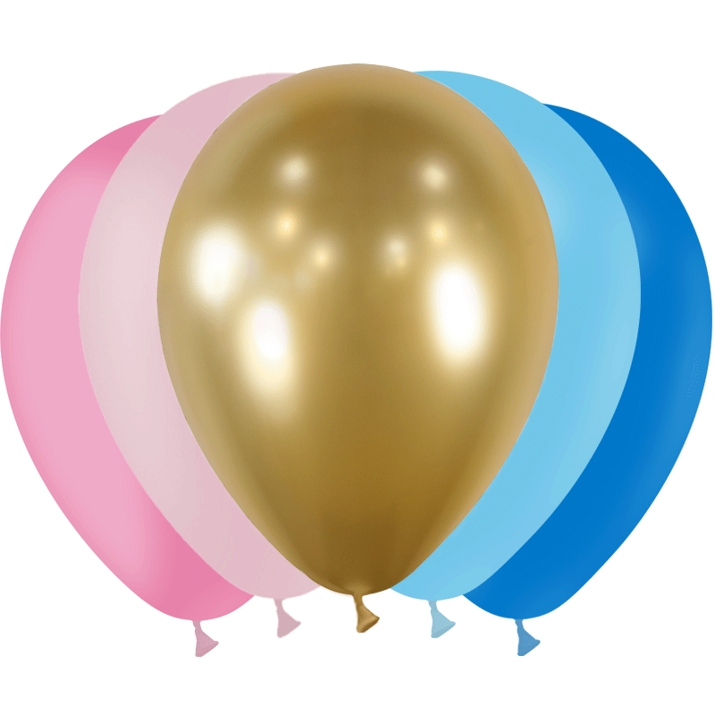 SMP 25 x mini latex balloons baby 12,5 cm 100% biodegradable