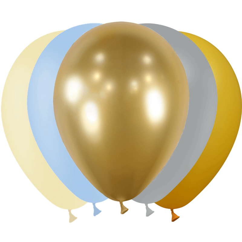SMP 25 x mini latex balloons romantic nature 12,5 cm 100% biodegradable