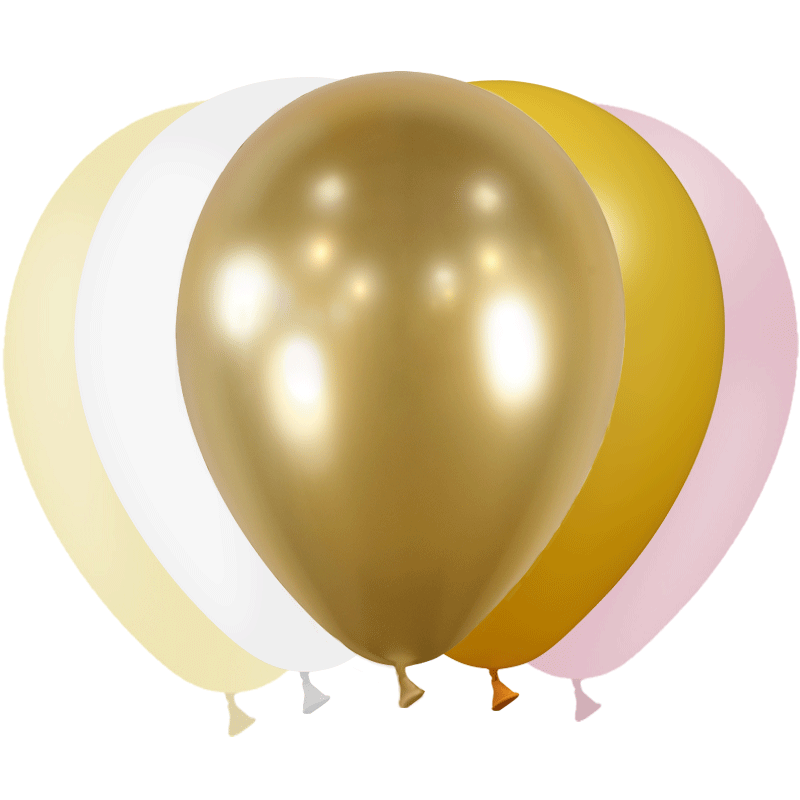SMP 25 x mini latex balloons bohemia 12,5 cm 100% biodegradable