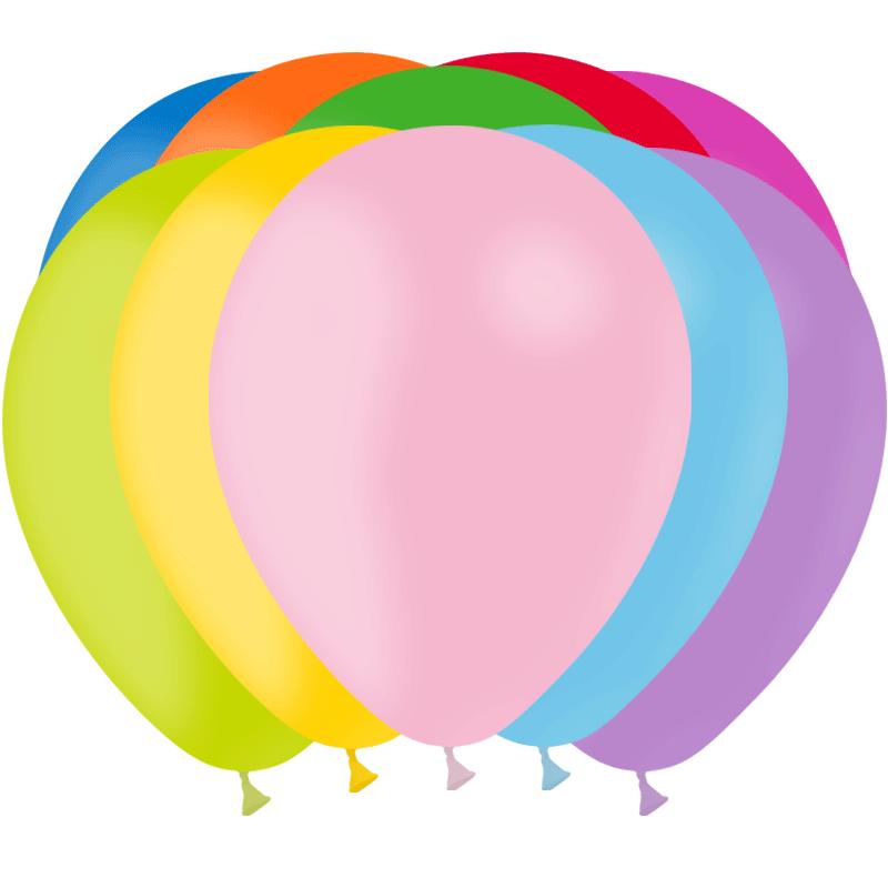 SMP 10 x mix colors latex balloons 30 cm 100% biodegradable