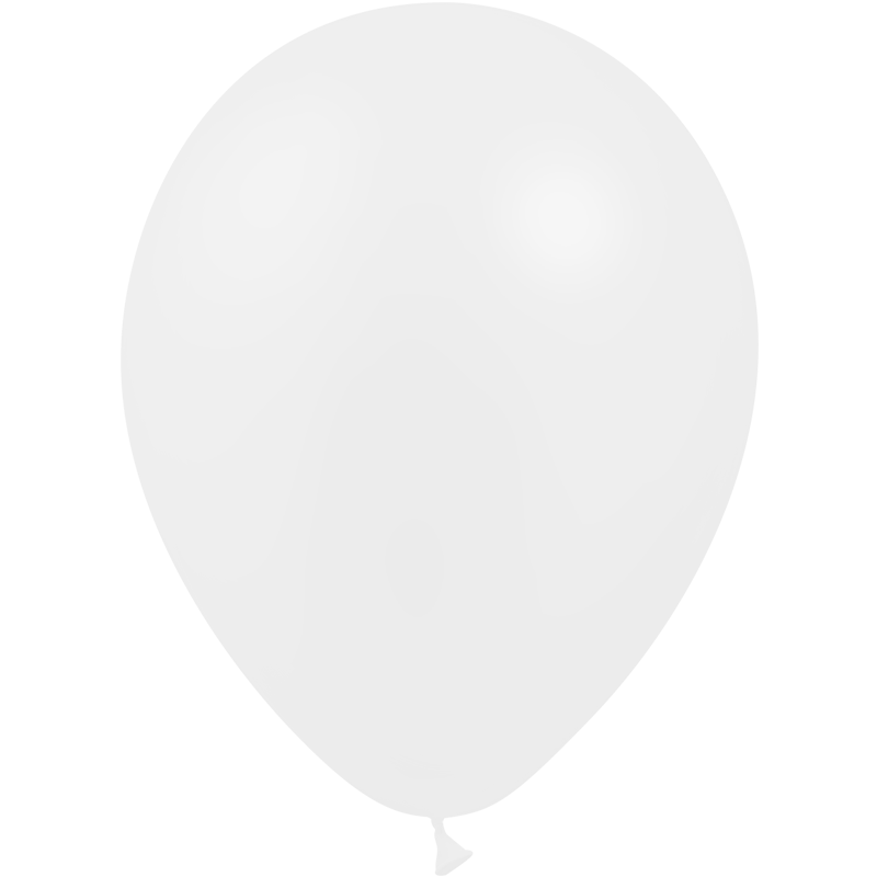 SMP 10 x white latex balloons 30 cm 100% biodegradable