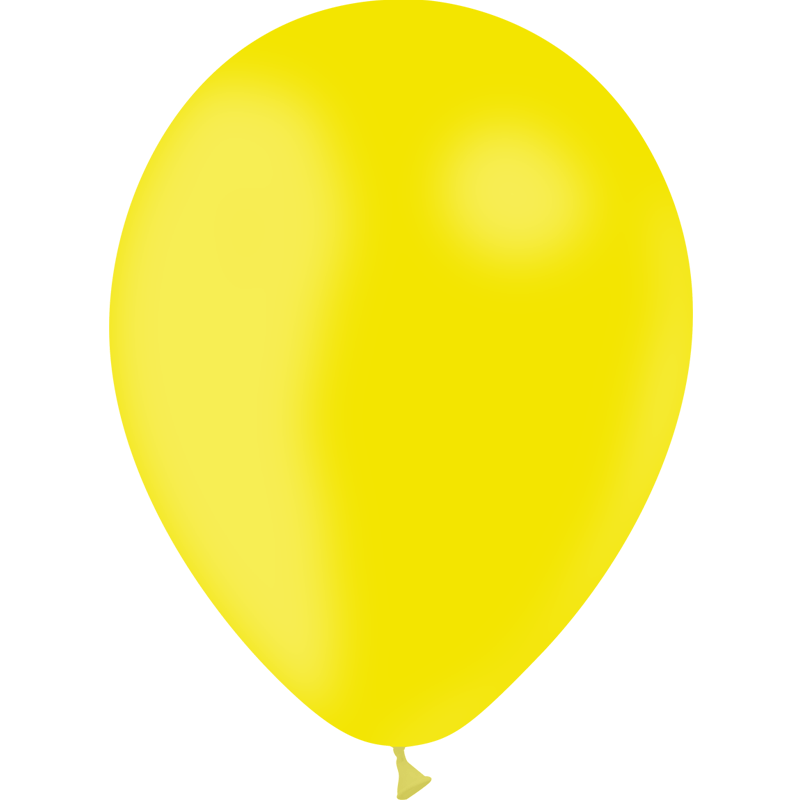 SMP 10 x yellow latex balloons 30 cm 100% biodegradable